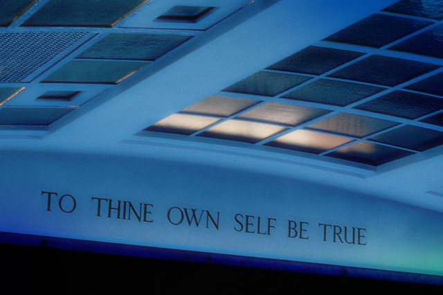 """To Thine Own Self Be True"" - Conway Hall, London"